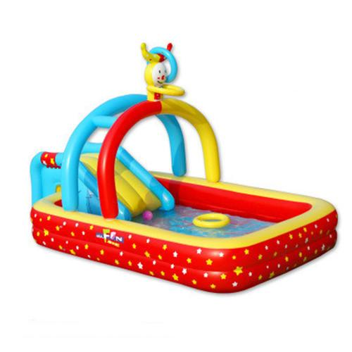 Kingtoy Baby large Inflatable swimming Pool With Inflatable Slide Toy