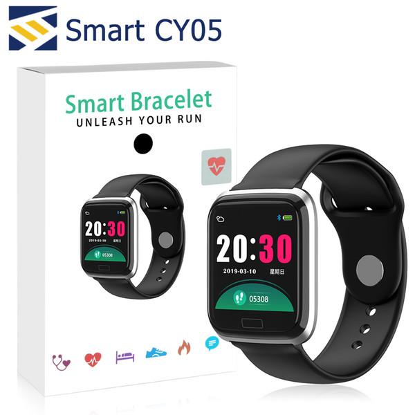 CY05 Akıllı Izle Bilezik 1.3 Inç Bluetooth Smartwatch Ile Moda Spor Su Geçirmez Spor Aktivite Tracker Nabız Kan Basıncı