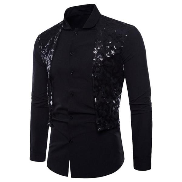 Sommer-Mann-Smokinghemd-beiläufige Mann-lange Hülsen-formale beiläufige Klagen nehmen passende T-Stück-Smokinghemde-Blusen-Oberseite ab