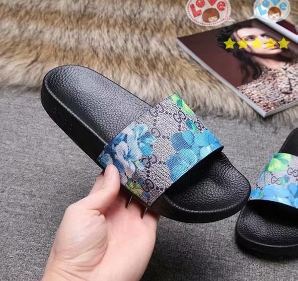 Italie vente chaude expédition rapide luxe femmes hommes sandales 35-45 nouvelles sandales plates mode casual qualité supérieure livraison gratuite boîte de fleurs GNB43