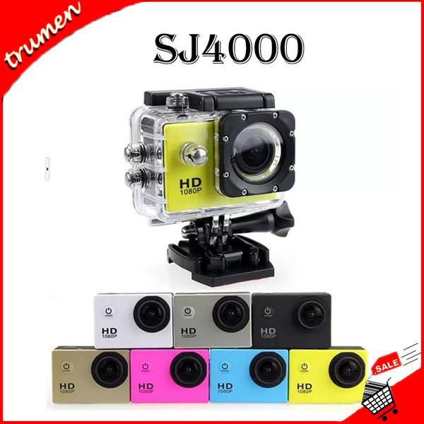 2018 New SJ4000 Freestyle 2inch LCD 1080P voller Action-Kamera 30 Meter wasserdichte DV-Kamera Sporthelm SJcam DVR00 Günstigste Kopie