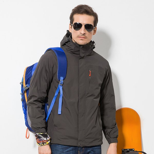 Free shipping 2019 men's spring and autumn winter jacket thickening clothing couple outdoor rain climbing clothing women