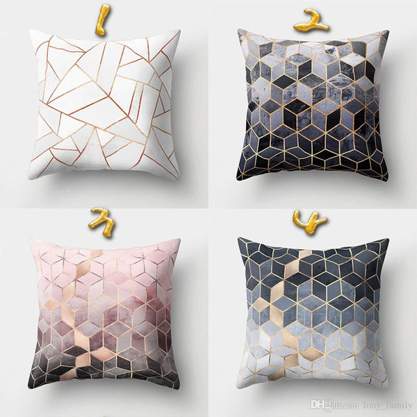 Wholesale 45*45cm 16 Styles Geometry Pattern Cushion Covers Bedroom Seat Decorative Pillow Home Decor Kitchen Accessories Party Decoration