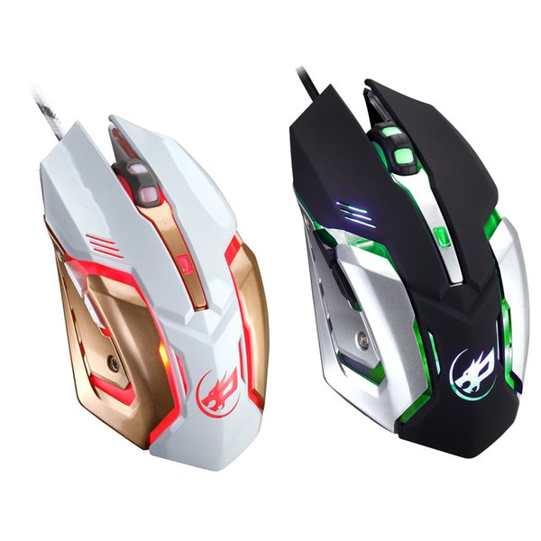 MOSUNX Wired LED Light 2400 DPI Usb Ergonômico Pro Gamer Gamer Gaming Mouse Placa De Metal YE1.9