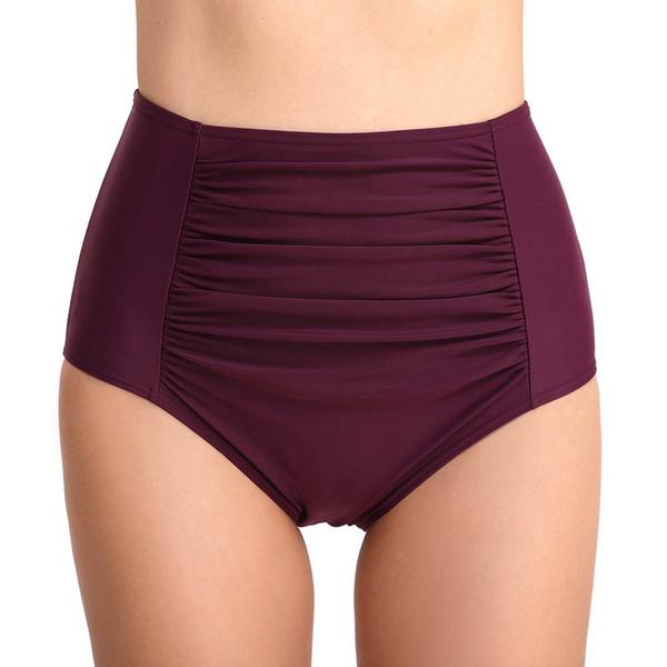 2019 Nuovo Plus Size a vita alta Swim Bottom Ruffed Bikini Tankini Costume da bagno Slip intimo perizoma costume da bagno Monokini