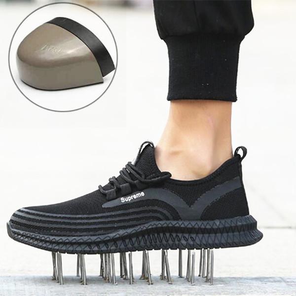 Nefes Artı boyutu 45 werkschoenen bir araya geldi neus Erkek güvenli ayakkabılar rahat Anti-bıçak chaussure securite travail homme
