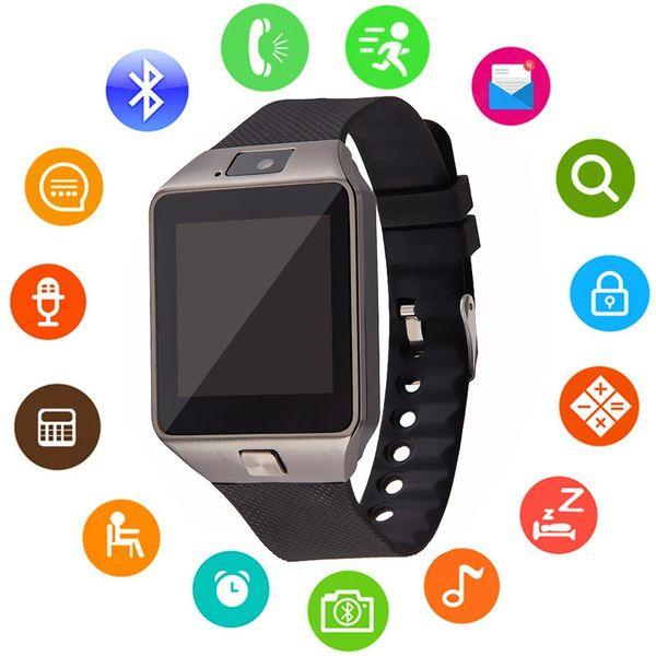DZ09 Bluetooth Smart Watch Montre Téléphone Intelligent Mobile Support Bracelet Smartwatch SIM Enregistrez le sommeil Pour IOS Android Phone DZ09 Q18 GT08