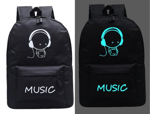 New backpack men and women school bag casual luminous backpack travel bag Harajuku classic large capacity computer bag free shipping