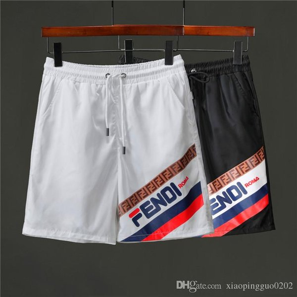Новые летние шорты мужские пляжные брюки с акульими шортами камуфляж модные брюки буквы длина колена свободные брюки M-XXXL