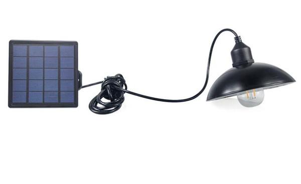 Retro LED Su Geçirmez Güneş Enerjisi Kolye Işık Sokak Işık Açık Avlu Bahçe Koridor için E27 Ampul ile Solar Lamba