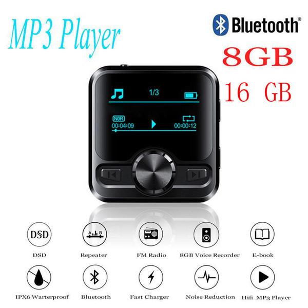 Hifi Sports Bluetooth Mp3 Grabadora de voz Hifi Mp3 Player Bluetooth Dsd 8gb Grabadora de voz Pen Hifi Audio Fm Radio Soporte E-book