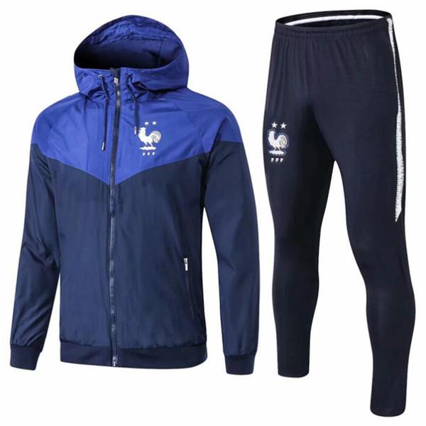 De primera calidad 18 19 chaqueta Frances MBAPPE windcheater 2018 2019 chándales camiseta de fútbol GRIEZMAMM Windbreaker POGBA KANTE abrigo de polvo