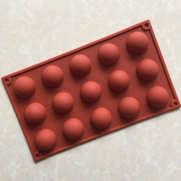 15 cavity semi sphere half round dome silicone mold chocolate teacake baking tray mousse truffles desserts making tools ice cream bombes