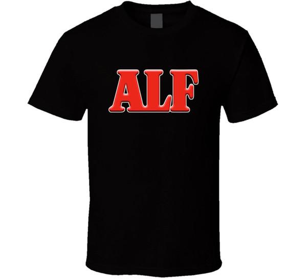 Alf Tv Show Retro T Shirt Mens Black Tee Animal Life Alien Gift New From Us T-shirt Men's Printed Short Sleeve Crewneck Cotton Big Size Coup