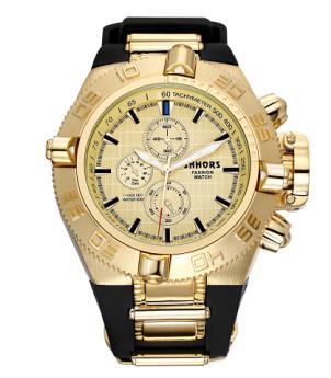 Shhors Mens Watches Top Brand Rubber Big Watch Men Sports Relogios Waterproof Erkek Saat Quartz Wristwatch Mens Military Y19051603