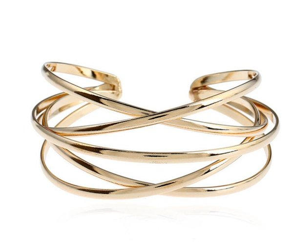 Interwoven Twist Cuff Bangles for Women Brand Big Boho Bangles Indian Girls Bracelets Designer Bangles Female Cute Ladies Jewelry Gift