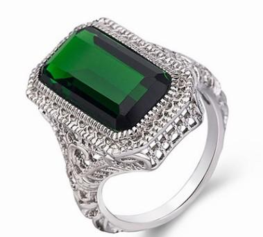 3pcs/lots wholesale low price high quality diamond crystal jade women's ring size 6---10 (6.8gg)