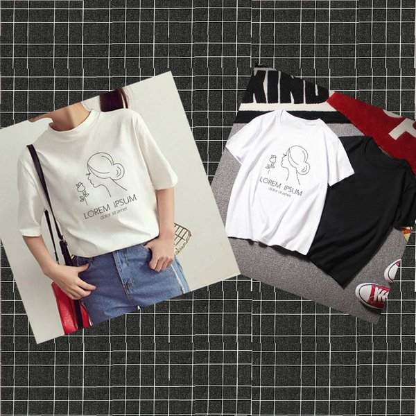 2019 fashion new Artistic lines pattern Print Women tshirt Casual Funny t shirt For Lady Girl Top Tee Hipster Women's clothing