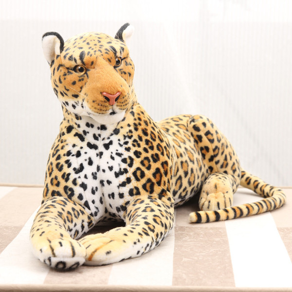 133cm Large Cool lying Leopard Pillow lively Simulated Animals model Kids mount decoration stuffed Plush doll Children toys gift