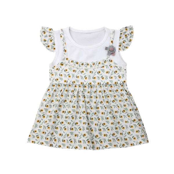 Toddler Kids Baby Girls Summer Casual Princess Dress Party Dresses Clothing