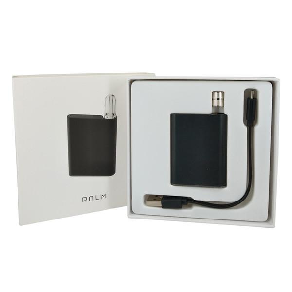 Palmbatterie Vape Box Mod 550mAh Einatmen Signalgeber Magnetischer Adapterring USB-Ladegerät 510 Thread Fit Dickes Öl Zerstäuber Stifttank