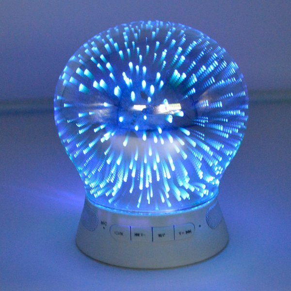 New 3D Colorful LED Light Smart App Control Card Respiratory Wireless Bluetooth Speaker Gift Audio