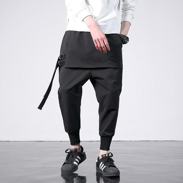 Batı Tarzı Moda Bireysellik Yan Şerit Erkekler Jogger Pantolon Hip Hop Sonbahar Günlük Sade Erkek Harem Pantolon SA-8