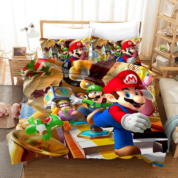 Super Mario Bros Bedding Set Duvet Covers Pillowcases 3D Print Children  Room Decor Comforter Bedding Sets Bedclothes SL01 Shop Duvet Covers Duvet  Sets ...