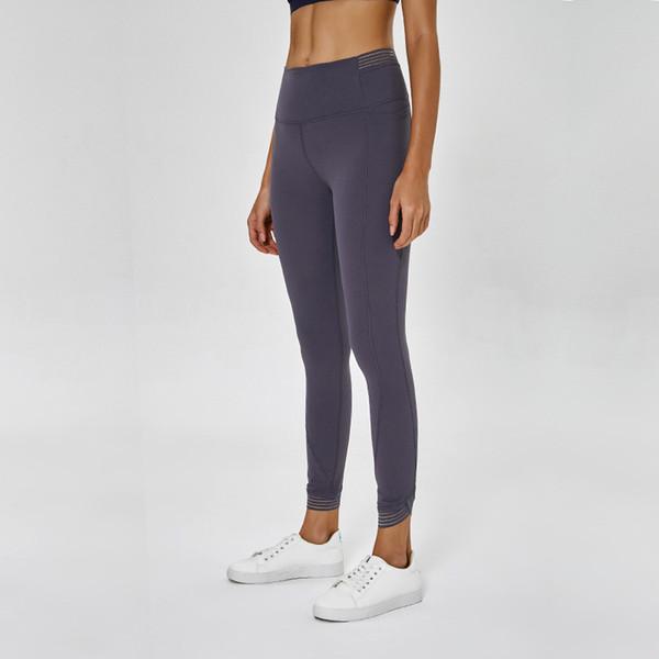 Ins Naked Feeling Spelling Yarn Yoga Pants Donna Vita alta Elastic Force On Nine Part Run Training Bodybuilding Serve