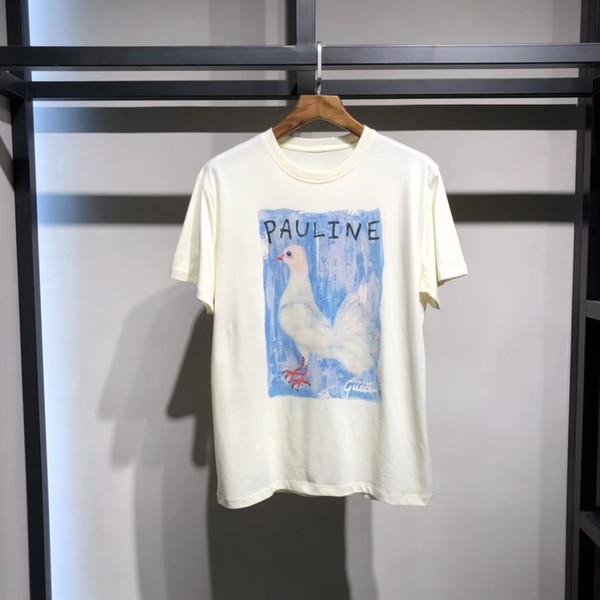 2020SS New Mens Designer T shirt Luxury Paris fashion Tshirts Summer Women Pattern T-shirt Male Top Quality 100% Cotton Top Tee 25540