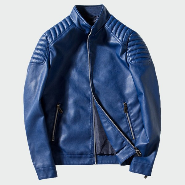 Men's Leather Jackets Autumn Winter Pu Faux Leather Coats Men's Biker Outerwear Motorcycle Slim Jacket Mens Brand M-4xl Ml031 T2190614
