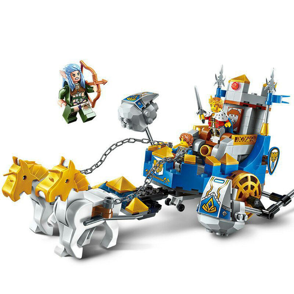 246pcs Children's Building Blocks Toy Compatible City Future Knights Castle Glory Battle Kings Chariot Figures Bricks J190719