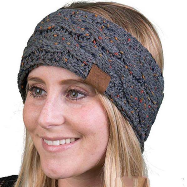 Mujeres de punto de cable de la venda de la marca invierno Headwrap Hairband Crochet Turban cabeza moda oreja más cálido diademas accesorios para el cabello 21 colores
