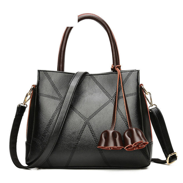 The New Stitching Handbags Korean Wild Atmosphere Portable Fashion High-capacity Shoulder Messenger Bag