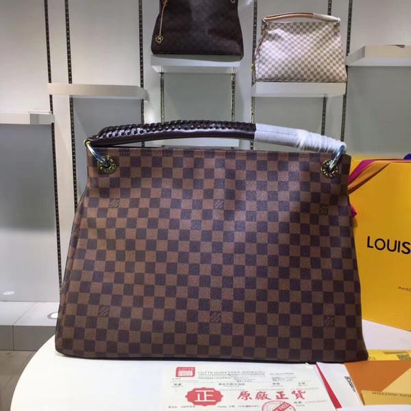 5A L Plaid # 589 Moda Couro Bolsas V Mulheres Tote Bolsas Composite Bag Lady embreagem ombro Bolsa Totes Rua fêmea com carteira