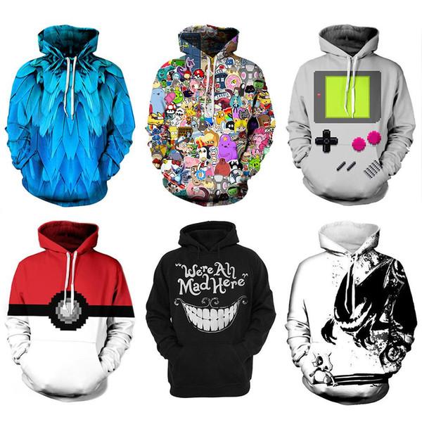 3D Graphic Print Men Women Pullover Top Hoodie Jacket Sweater Sweatshirt