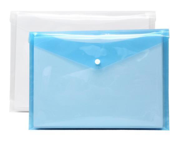 A4 file bag transparent information bag snap test paper storage bag plastic portfolio student test pencil case