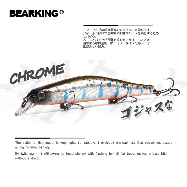 Bearking 11cm 17g Magnet Weight System Long Casting New Model Fishing Lures Hard Bait Dive 0.8-1.2m Quality Wobblers Minnow C19041201