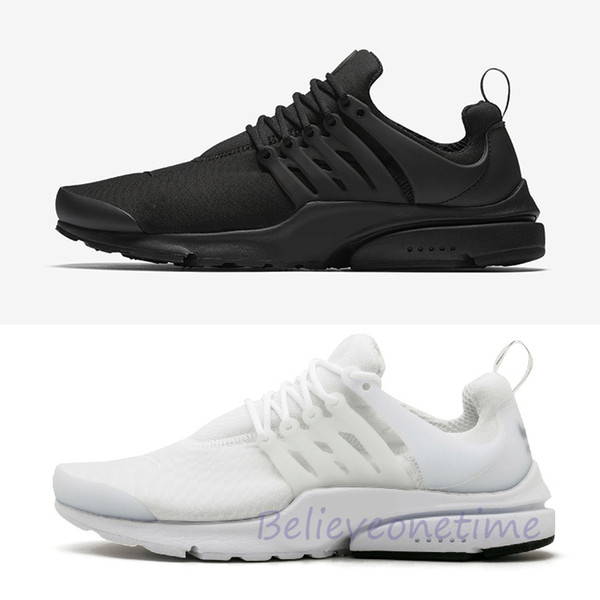 Presto Triple Black White BR QS Running Shoes For Women Mens Essential Breathe Prestos Trainers Trainning Walking Designer Sneakers 36-46