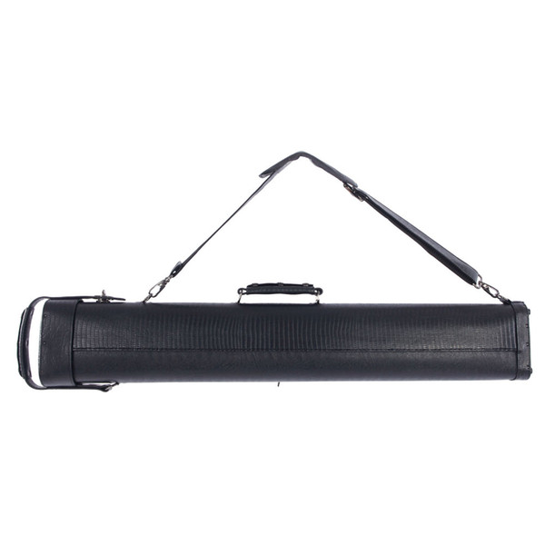 62638-468 1 2 8-Hole Plastic Leather Professional Pool Cue Case 34 inch Black