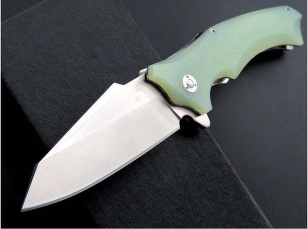 snake head 9cr18mov XJ10 58-59 HRC G10 handle ball bearing Camping Survival Folding Knife Gift Knife Outdoor Tools OEM xmas gif