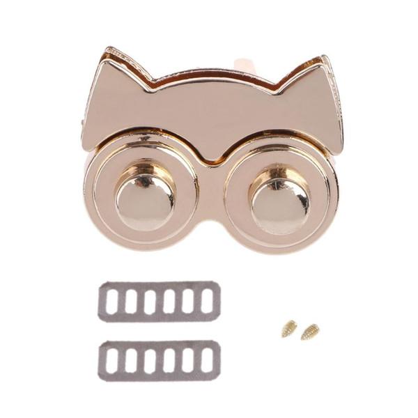 Cute Metal Owl Clasp Turn Twist Lock for DIY Handbag Craft Bag Purse Accessories