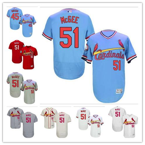 best cheap 34480 63cd1 2019 Custom Men'S Women Youth St. Louis Cardinals Jersey #51 Willie McGee  45 Bob Gibson Red White Grey Baseball Jerseys From Ccr09, $16.5 | DHgate.Com
