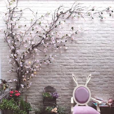 Künstliche Dekoration Gefälschte Blumenzweige Hängende Girlande Flexible Kunststoff Reben Wandbehang Rattan DIY Home Hochzeit Garten EEA350