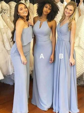 Cheap Country Bridesmaid Dresses Mixed Styles Jumpsuit Pants Maid of Honor formal party gowns With Capes Sexy robes de bal 2018 prom chic