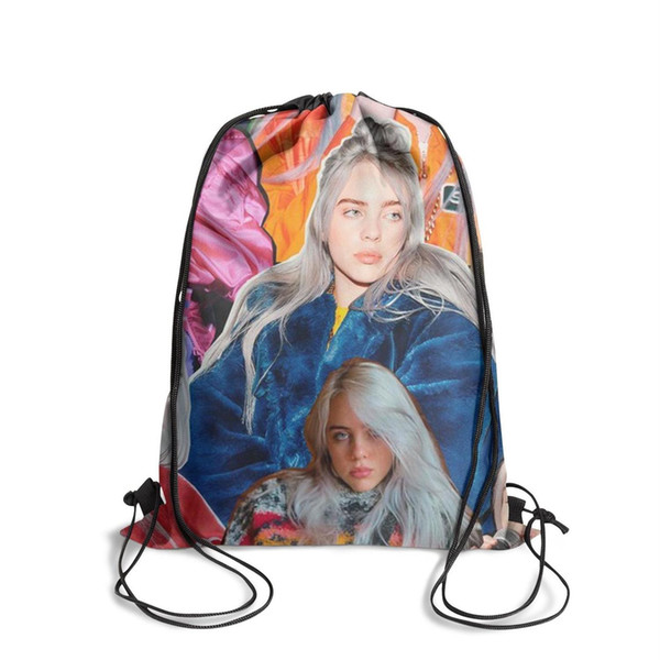 Drawstring Sports Backpack Billie Eilish outdoor daily limited edition Pull String Backpack