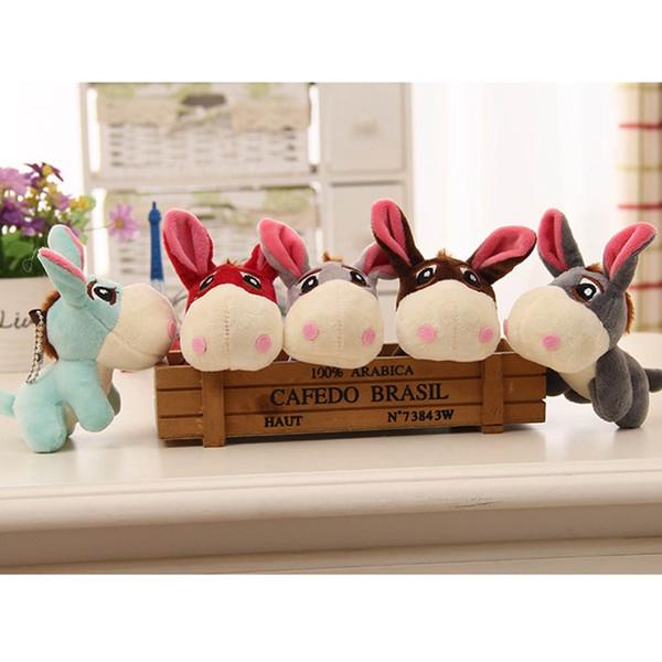 12 cm Kawaii Esel Plüsch Spielzeug Niedlichen Mini Anhänger Weiche Kuscheltiere Puppe Baby Spielzeug Kinder Spielzeug Geburtstagsgeschenke Tasche Zubehör