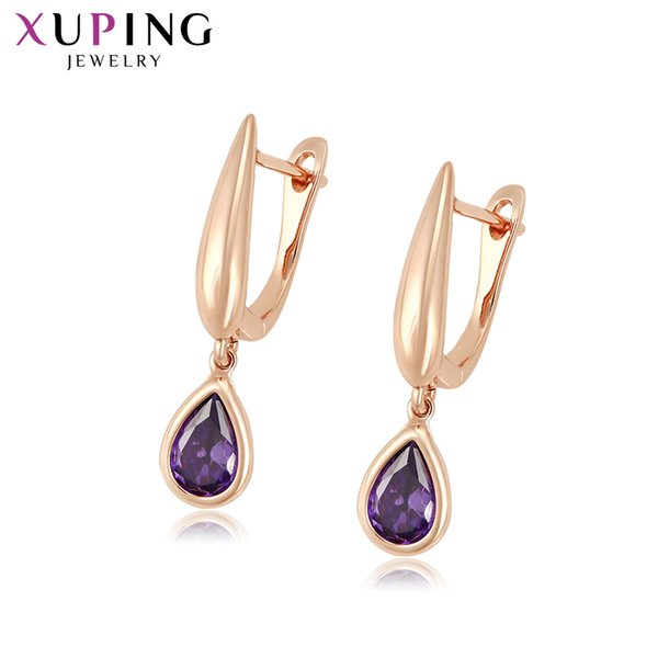 wholesale for Girls Water Drop Shaped New Arrival Earrings Hoops Simple Sweet Little Fresh Christmas Gifts S202.4-98584