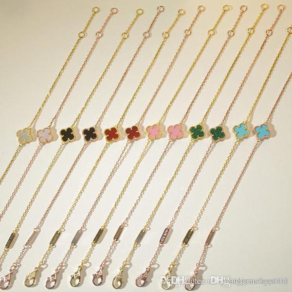 materiale d'ottone di alta qualità di nuovo arrivo e la marca braccialetto ciondolo mini fiore con la pietra naturale per le donne regalo di nozze regalo gioielli f