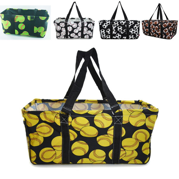 5 Colors Baseball Softball Big Beach Bag Soccer Football Basketball Travel Sport Handbag Canvas Storage Bag Tote Organizer Gifts HH7-1027